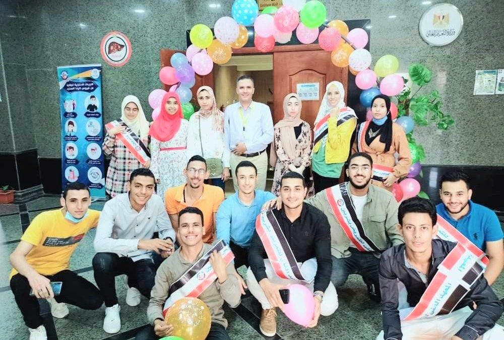 المعهد الفني للتمريض بشربين يحتفل باستقبال الطلاب الجدد