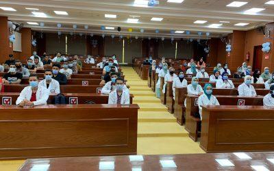 انتظام كامل لطلاب المعهد التكنولوجي العالي للعلوم الصحية التطبيقية بشربين في المحاضرات